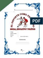 Monografia_el Deporte, Fenomeno Social, Educativo y Politico