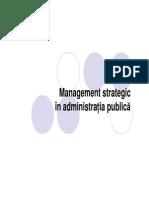 Management Strategic in Administratia Publica
