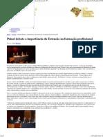 Painel debate a importância da Extensão na formação profissional _ 5º Congresso Brasileiro de Extensão Universitária