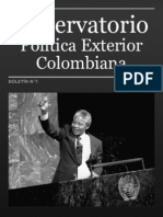 Observatorio Política Exterior Colombiana. Boletín N°7. Issn