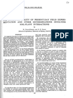 THE DOUBTFUL UTILITY OF PRESENT-DAY FIELD EXPERIMENTATION AND OTHER DETERMINATIONS INVOLVING SOIL-PLANT INTERACTIONS