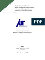 Analisis de La Memoria y Cuentas 2013