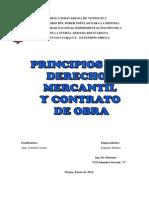 Ensayo Principios Del Derechos Mercantil y Contrato de Obra