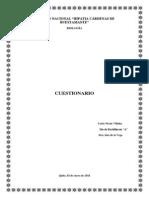 CUESTIONARIO PROTEINAS