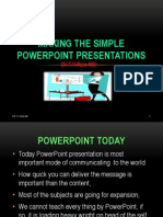 Making the simple PowerPoint presentations