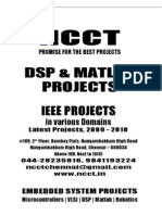 MATLAB Project Titles, 2009 - 2010 NCCT Final Year Projects