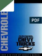 1994 Chevrolet Blazer S10 Owner's Manual