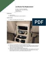BMW E61 Aircon Fan Replacement