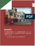 ENSAYO - TRANSGRESIÓN Y MODERNIDAD DE LA VIVIENDA - FINAL