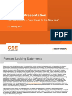 GSE Investor Presentation - CJS Conference vFINAL Jan 2013