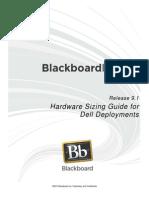 Blackboard Learn 9.1 Hardware Sizing Guide for Dell Deployments
