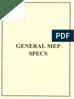 MEP SPECS
