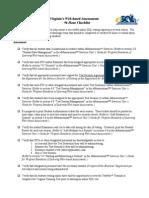 Sample 96 Hour Checklist