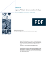 A Field Guide to Designing a Health Communication Strategy