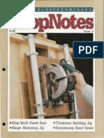 ShopNotes #04 (Vol. 01) - Shop Built Panel Saw