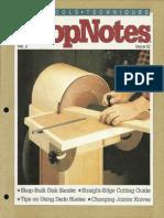 ShopNotes #12 (Vol. 02) - Shop Built Disk Sander