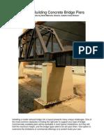 Scratchbuilding Concrete Bridge Piers