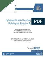 Optimizing Bitumen Upgrading Scheme –