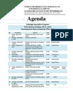 Agenda Lindsay Sept 16, 2013