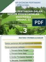 03. TM Ke 3 Peran Pertanian Dlm Sistem Perekonomian Indonesia