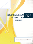 Industrial Relations and Contract Labour in India