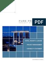 120104 Pure Projects Hotel Resort Capability Statement Inc Sri Lanka