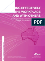 Working Effectively within the Workplace and with Others Book 1