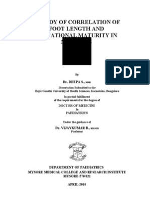 Study related to paediatrics | Low Birth Weight | Preterm Birth | Free  30-day Trial | Scribd
