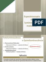 Espectroscopia de luminescência molecular