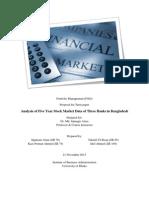 Termpaper Proposal on Analysis of Five Year Stock Market Data of Three Banks in Bangladesh