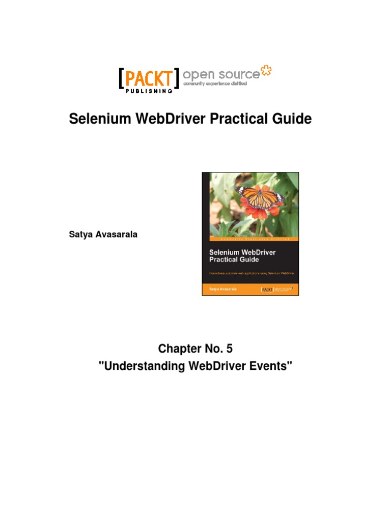 9781782168850 selenium webdriver practical guide sample chapter rh scribd com selenium webdriver practical guide pdf download selenium webdriver practical guide by satya avasarala pdf
