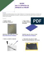 Guide pour dessins en reief