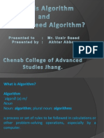 What and Why We Use Algorithm (Akhtar Abbas)
