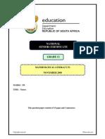 Mathematical Literacy P1 Eng Nov 2008