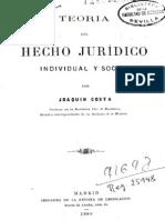 COSTA, Joaquin (1886) Teoria del Hecho Jurídico