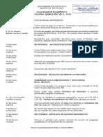 Calendario UPR Segundo Semestre 2013-14