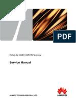 EchoLife HG813 GPON Terminal Service Manual-(V100R001C01_02)