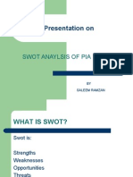 Current swot of Pia