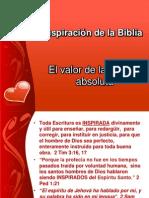 La inspiración de la Biblia III IBE Callao