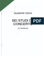 Sei Studi Da Concerto Per Clarinetto