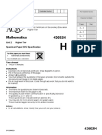 AQA Maths- Unit 2 Qpaper - H