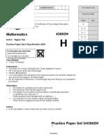 Maths Question Paper GCSE