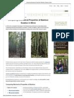 Comparing Mechanical Properties of Bamboo_ Guadua vs Moso