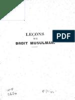 LANGLARD, Louis (1887) Leçons de Droit Musluman