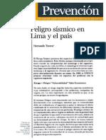 Peligro sísmico en Lima y el país