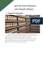 Arti Kearsipan Dan Sistem Pengarsipan Geografis