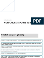 Non-Cricket Sports in India