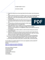 The Ppt Project Instructions