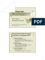 Bilingual Edge PowerPoint Handout