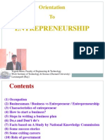 Orientation to Entrepreneurship